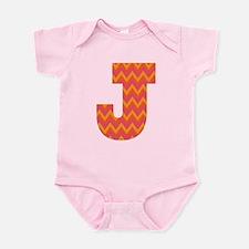 J Monogram Chevron Infant Bodysuit