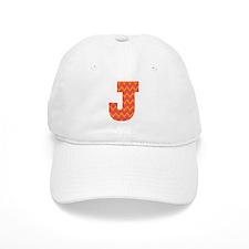 J Monogram Chevron Baseball Cap