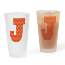 J Monogram Chevron Drinking Glass