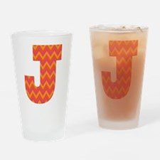 J Monogram Chevron Drinking Glass