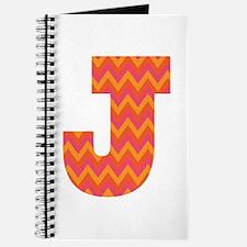 J Monogram Chevron Journal