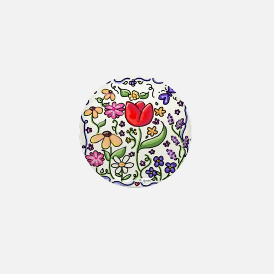 Flower Garden... My Joy Mini Button