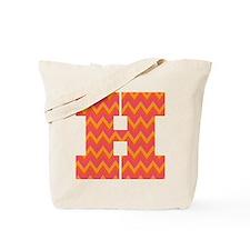 H Monogram Chevron Tote Bag