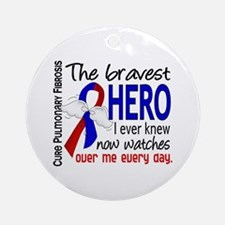 Pulmonary Fibrosis Bravest Hero I Ornament (Round)
