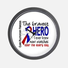 Pulmonary Fibrosis Bravest Hero I Knew Wall Clock
