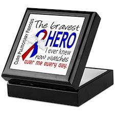 Pulmonary Fibrosis Bravest Hero I Kne Keepsake Box