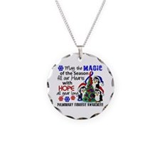 Pulmonary Fibrosis Christmas Necklace