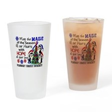 Pulmonary Fibrosis Christmas Pengui Drinking Glass