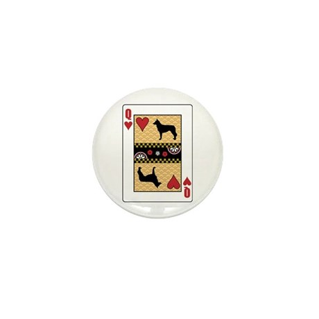 Queen Malinois Mini Button
