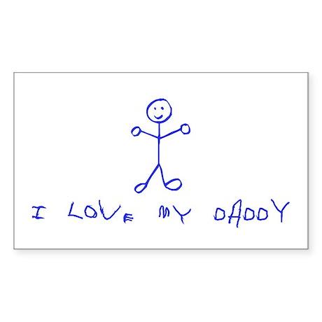 Love Daddy Rectangle Sticker
