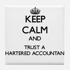 Keep Calm and Trust a Chartered Accountant Tile Co