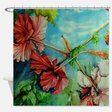 Hirokos Hibiscus 3 Shower Curtain