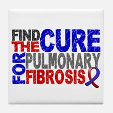 Pulmonary Fibrosis Find the Cure Tile Coaster