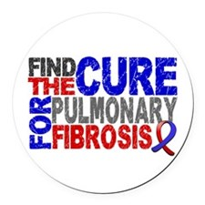 Pulmonary Fibrosis Find the Cure Round Car Magnet