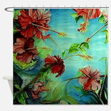 Hirokos Hibiscus 4 Shower Curtain