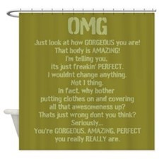 Cute Awesome images Shower Curtain