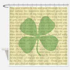 IRISH BLESSINGS Shower Curtain