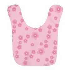 Pink Cherry Blossoms Pattern Bib