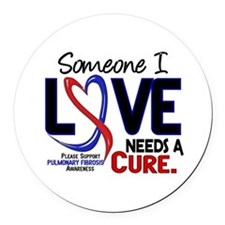 Pulmonary Fibrosis Needs a Cure 2 Round Car Magnet