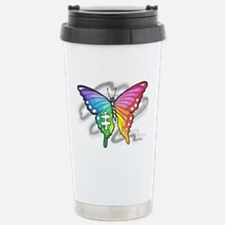 Rainbow butterfly with  Stainless Steel Travel Mug