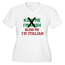 Kiss me Irish Italian Plus Size T-Shirt