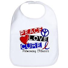 Pulmonary Fibrosis Peace Love Cure 1 Bib