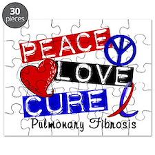 Pulmonary Fibrosis Peace Love Cure 1 Puzzle