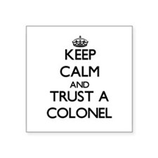 Keep Calm and Trust a Colonel Sticker
