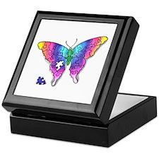 Rainbow Puzzle Buuterfly Keepsake Box