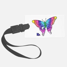 Rainbow Puzzle Buuterfly Luggage Tag