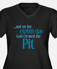 Pit Creation Women's Plus Size V-Neck Dark T-Shirt