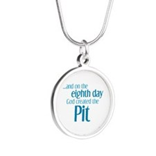 Pit Creation Silver Round Necklace
