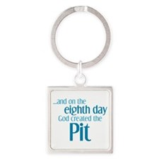 Pit Creation Square Keychain