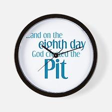 Pit Creation Wall Clock