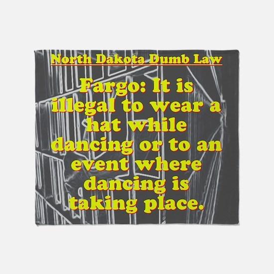 North Dakota Dumb Law #3 Throw Blanket