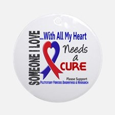 Pulmonary Fibrosis Needs a Cure 3 Ornament (Round)