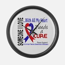 Pulmonary Fibrosis Needs a Cure 3 Large Wall Clock