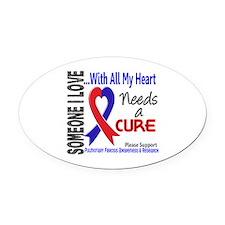 Pulmonary Fibrosis Needs a Cure 3 Oval Car Magnet
