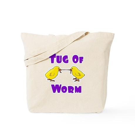 Tug O Worm Tote Bag