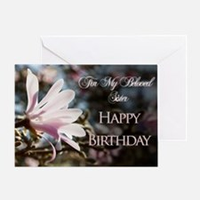 For sister, a birthday card with magnolias Greetin