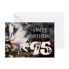 95th birthday card with magnolias Greeting Cards