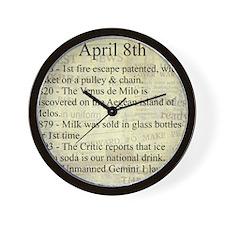 April 8th Wall Clock