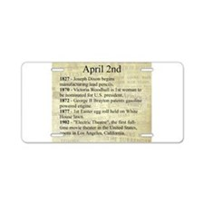 April 2nd Aluminum License Plate