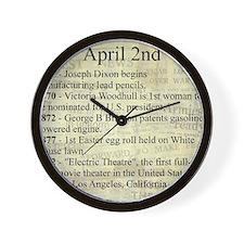 April 2nd Wall Clock