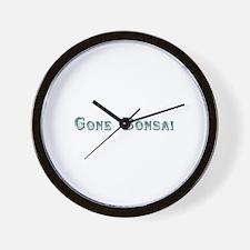Gone Bonsai Wall Clock