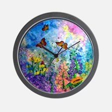 Butterfly Garden 9.5 Inch Wall Clock