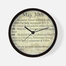 May 30th Wall Clock