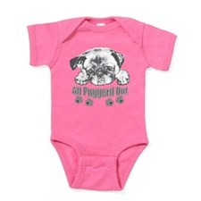 Puggerd out pug Baby Bodysuit