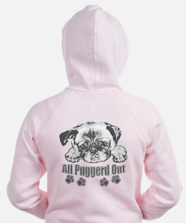 Puggerd out pug Zip Hoody