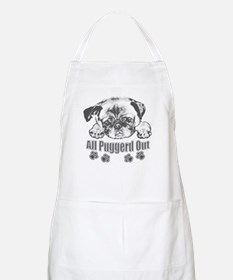 Puggerd out pug Apron